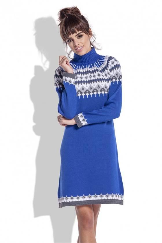 Zimní šaty Fobya F346 modré 3416cae05a