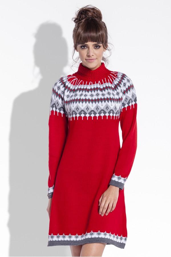 Zimní šaty Fobya F346 červené  b3151e2c8a