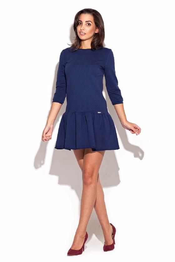 Dámské šaty Katrus K222 modré 7809683ab5