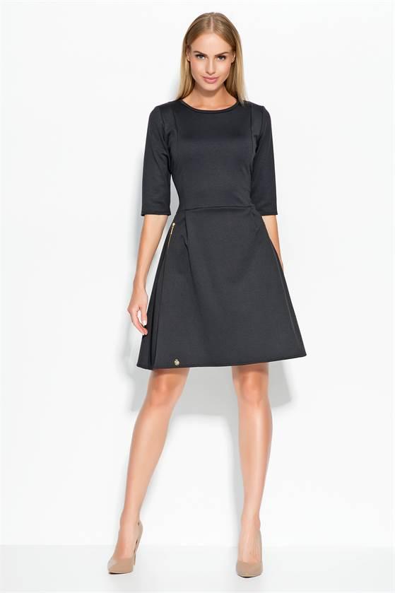 0e8c20a011b3 Dámské šaty Makadamia M316 černé