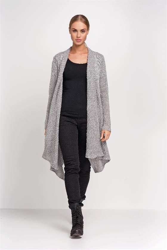 Pletený dámský kabátek Makadamia S29 šedý b06ed86bb2